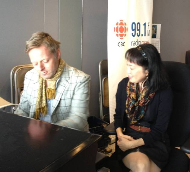 CBC's Fresh Air Radio Host Mary Ito with Hugh Christopher Brown