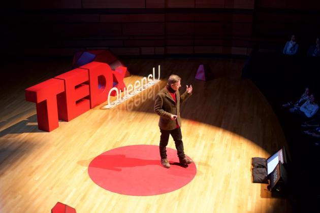 Hugh Christopher Brown  Tedx Talk - Kingston, Queens University Photo credit: Jonathan Reed