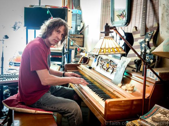 at his piano in Lafayette, Indiana Photo: Faith Cohen